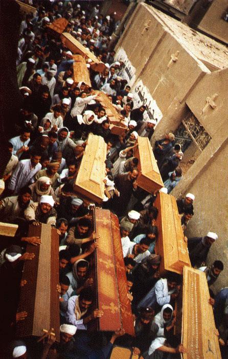 جنازة شهداء الكشح الواحد والعشرين