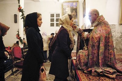 Ethnic Armenians, Iran's largest Christian minority, on Christmas Eve.