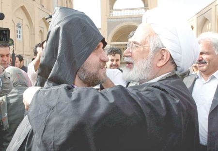 Karrub_embraced_Archbishop_of_ the_ Armenian_Church_Babkin_Charian